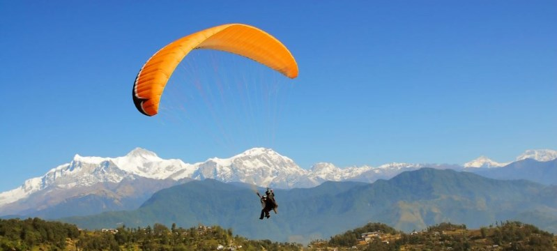 adventurous destinations india, paragliding